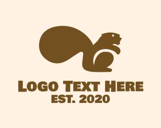 Squirrel - Brown Beaver logo design