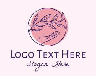 Relaxing - Relaxing Spa Hand  logo design