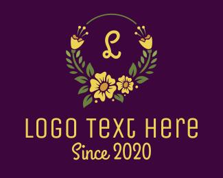 Occasion - Yellow Flower Letter logo design