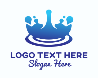 Drinking Water - Water Splash Ripple  logo design