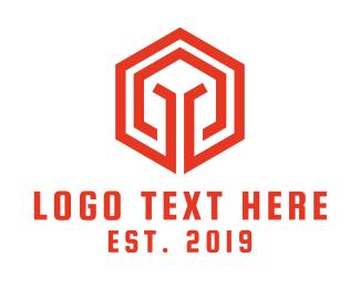 Pubg - Hexagon Spartan logo design