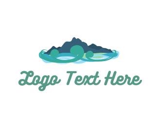 Stream - Natural River logo design