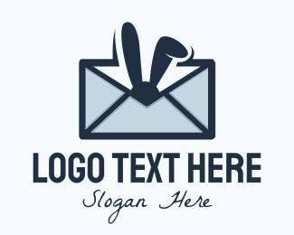 Bunny Letter Envelope Logo