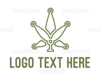 Cbd - Green Weed Tech logo design