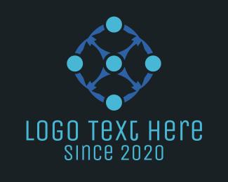 Scientist - Blue Circles logo design