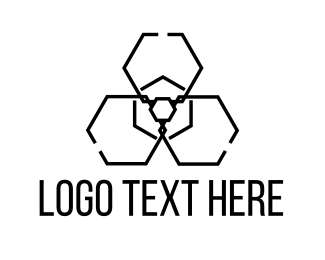 Drone - Radiation Hexagon logo design