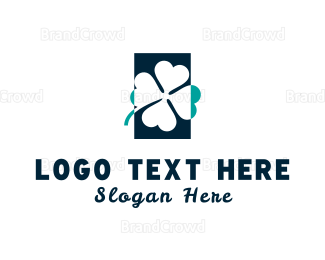 Irish - Blue Clover logo design