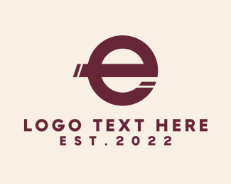 Technology - Simple Letter E  logo design