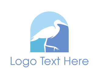Aviary - Blue Stork  logo design