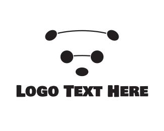 Cool - Black & White Bear logo design