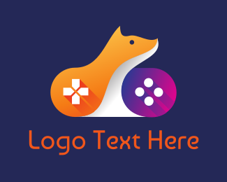 Remote - Orange Fox Controller logo design