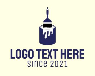 Renovation - House Renovation Paint logo design