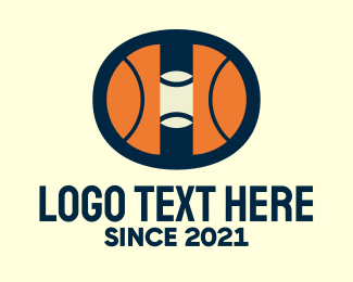 Basketball Coach - Hoops Basketball Court logo design