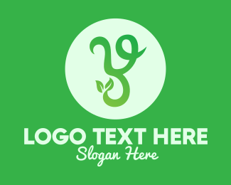 Healthy Lifestyle - Green Organic Letter Y logo design
