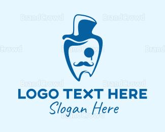 Dentist - Gentleman Dentist logo design
