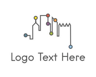 New York - City Network logo design