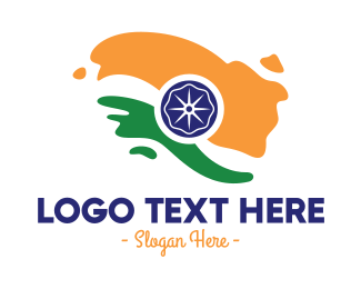 Government - Abstract India Flag logo design