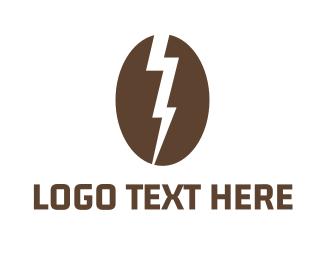 Iced Coffee - Electric Coffee logo design