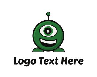 Extraterrestrial - Green Alien  logo design