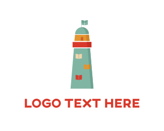 Guide - Blue Lighthouse  logo design