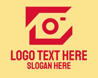 Vlogger - Red Modern Photographer  logo design