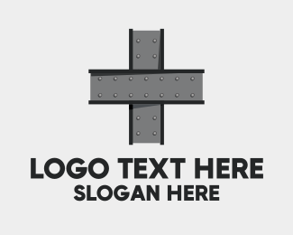 Metal - Steel Cross Bars logo design