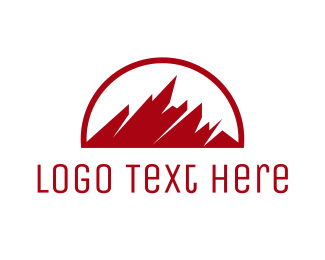 """Abstract Red Mountain"" by eightyLOGOS"