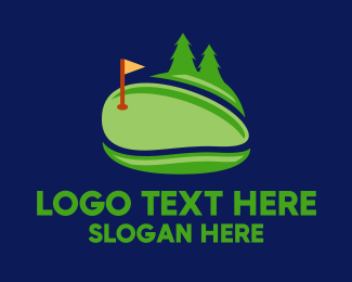 Golf - Green Golf Course logo design