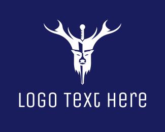 Ps4 - White Deer Sword  logo design