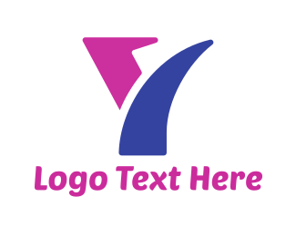 Removalist - Blue & Purple Letter Y logo design