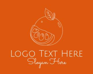 Fruit Stall - Fresh Orange Fruit logo design
