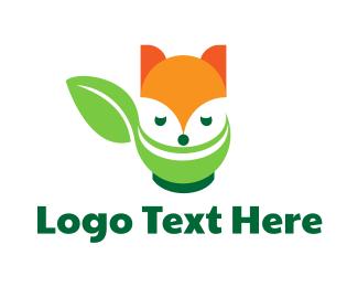 Skunk - Raccoon Leaf logo design