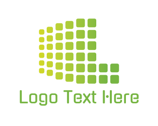It Professional - Green Digital Screen logo design