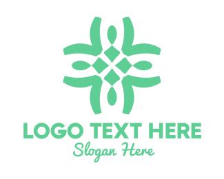 Natural Therapy - Organic Cross Pattern logo design