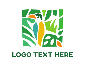 Travel And Hospitality Tropical Toucan logo design