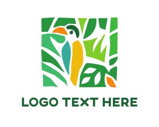 Island - Tropical Toucan logo design