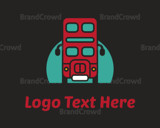 Travel Agent - London Bus logo design