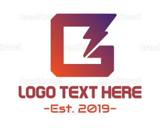 Appliances - Electrical Letter G logo design