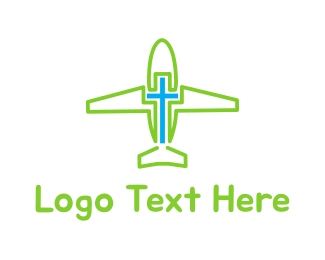 Delta - Airplane Cross logo design