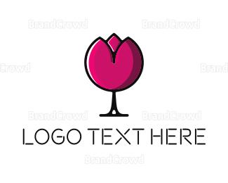 Cocktail - Lotus Glass logo design