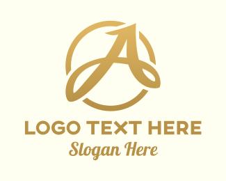 Calligraphic - Elegant Calligraphic Letter A logo design