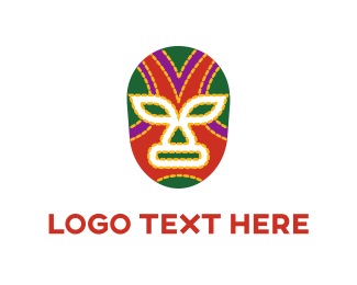 Fighter - Mexican Mask logo design