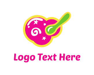 Yogurt - Pink Food logo design