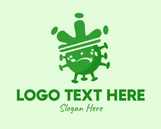 Virus - Angry Virus  logo design