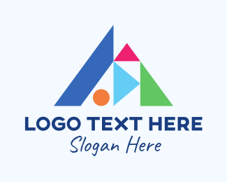 Childhood - Abstract Building Blocks logo design