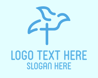 Peaceful - Religious Bird logo design