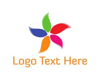 Mental Health - Colorful Flower logo design