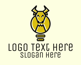 Bull - Idea Bull logo design