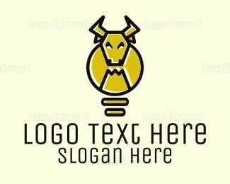 Smart - Idea Bull logo design