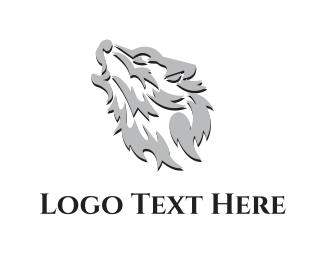 Creature - Silver Wolf logo design